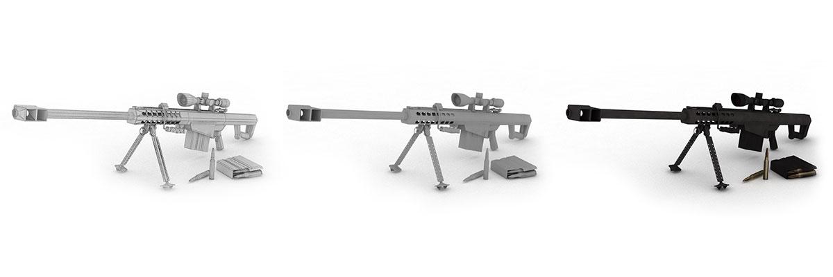 Herní model zbraně M107 Barrett